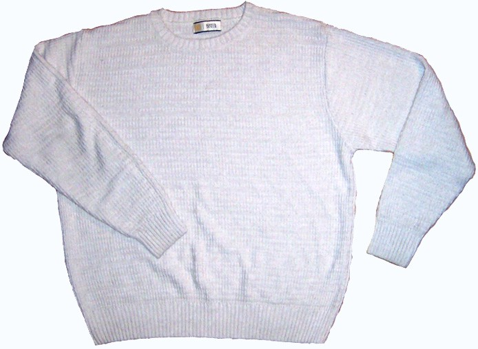 A picture of a white sweater